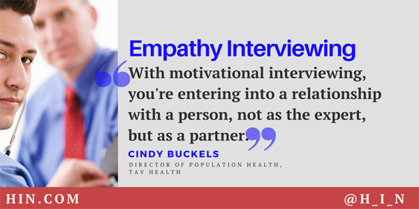 Listen To Cindy Buckels Explain The Advantages Of Motivational Interviewing  Over The U201cChunk Check Changeu201d Educational Approach.